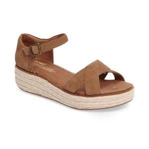 Toms Harper Wedge Platform Sandals Size 7